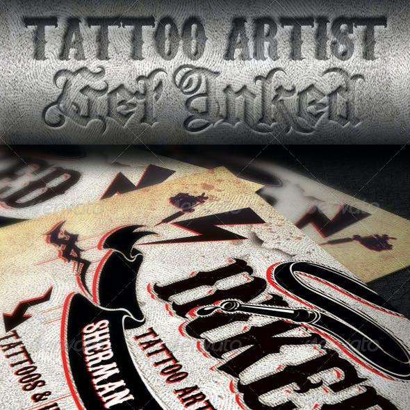 Tattoo Artist Business Card PSD Template