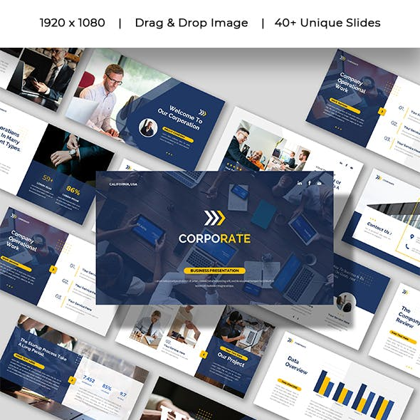 CORPORATE - Company Business Presentation Powerpoints Template
