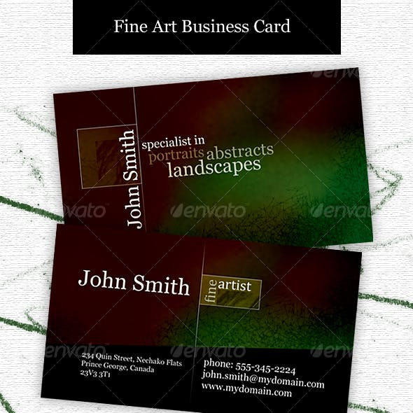 Fine Artist Business card