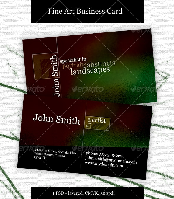 Fine Artist Business card - Creative Business Cards