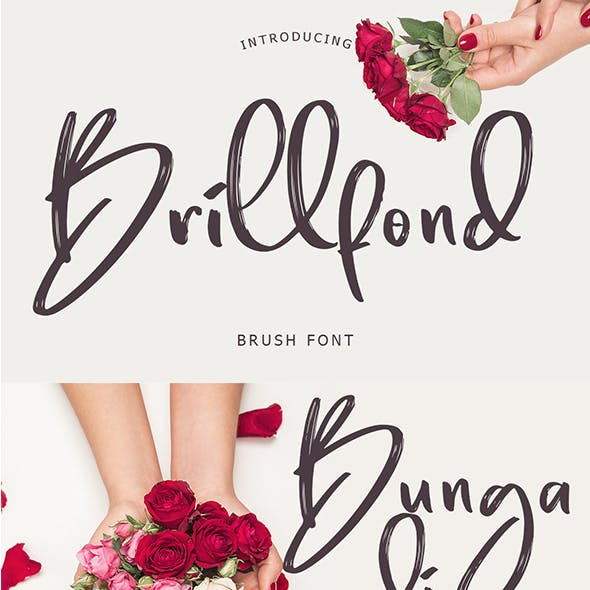 Brillfond Brush Typeface