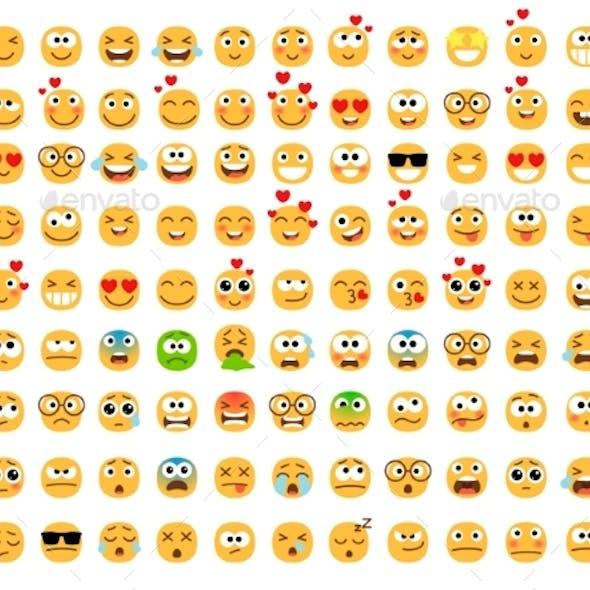 Emoticons Yellow Set