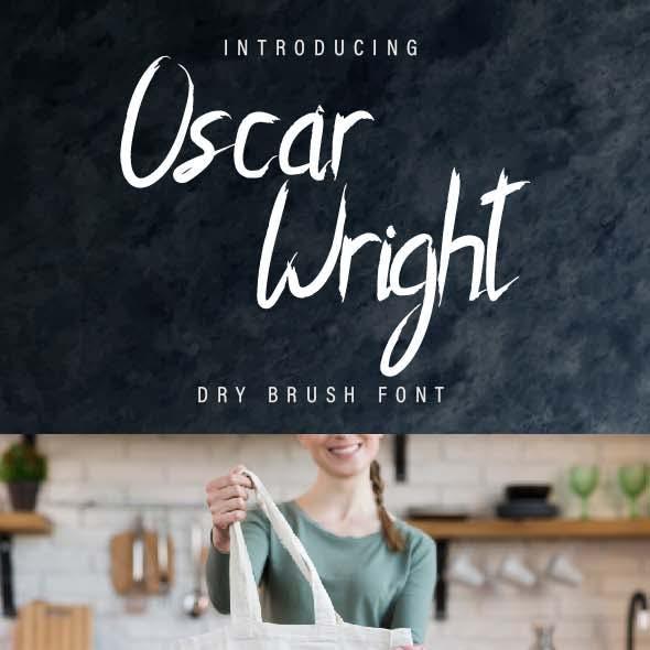 Oscar Wright Rough Font