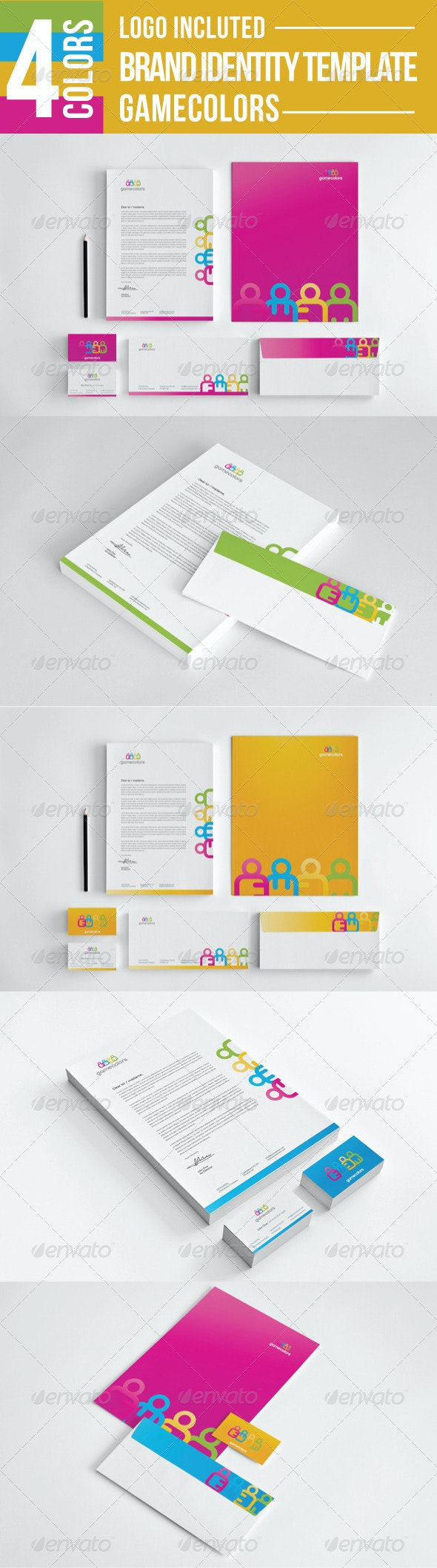 Game Colors Stationery - Stationery Print Templates