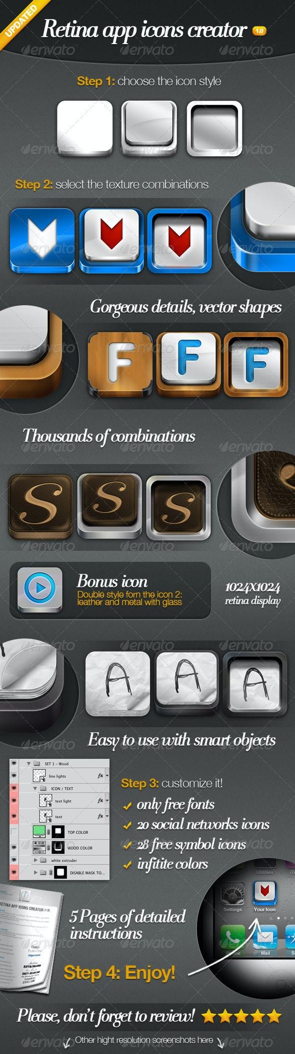 Retina App Icons Creator - Software Icons