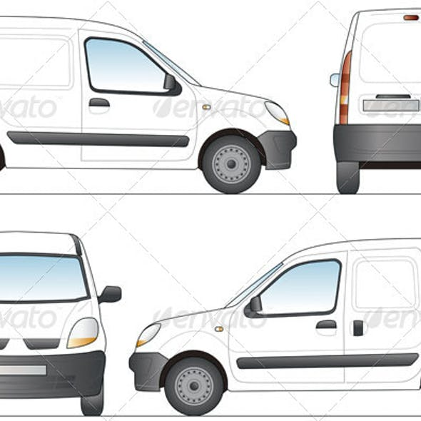 Delivery Van Template