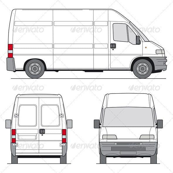 Delivery Van Template