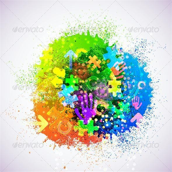 Vector Creative Abstract Background
