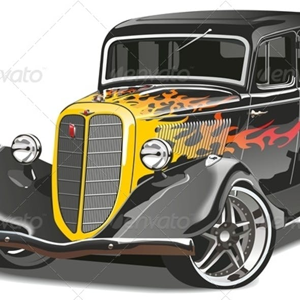Vector Retro Hot Rod
