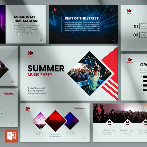 Summer Music Party PowerPoint Presentation Template