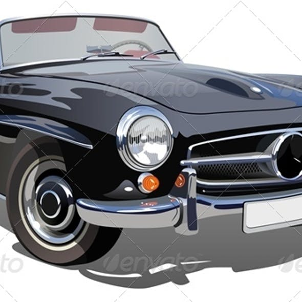 Vector Retro Luxury Car