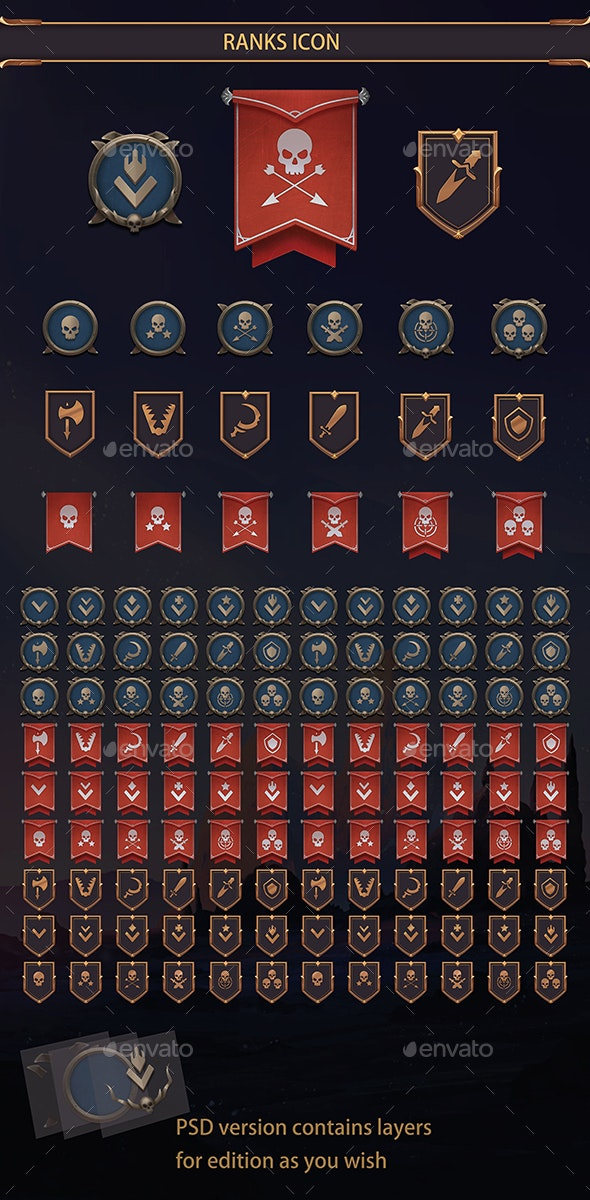 Rank Icons - Miscellaneous Game Assets