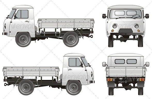 Vector Delivery Cargo Pickup - Man-made Objects Objects