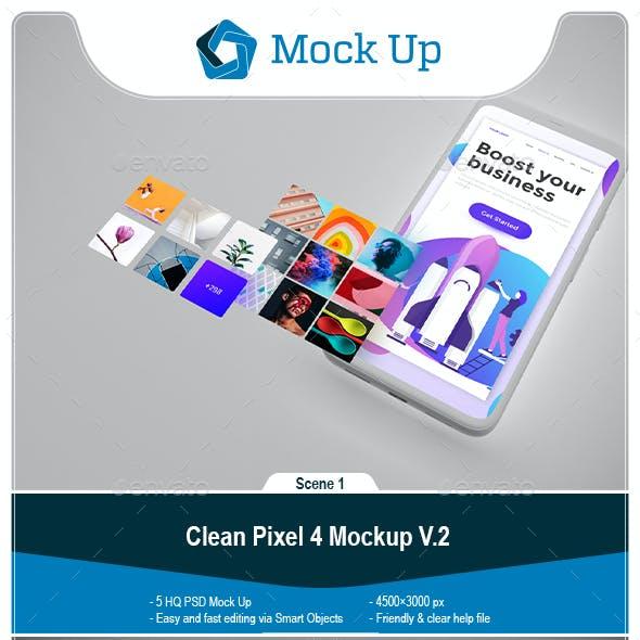Clean Pixel 4 Mockup V.2