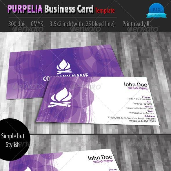 Purplia Business Card Template