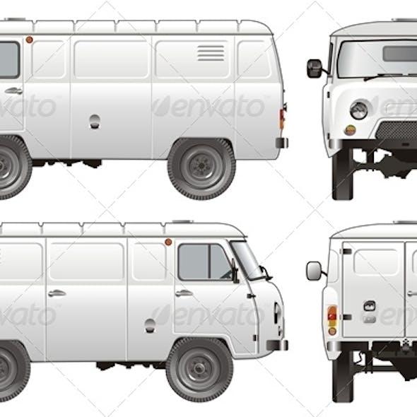 Vector Delivery Cargo Van 4x4