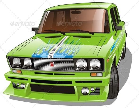 Vector Custom Car - Man-made Objects Objects