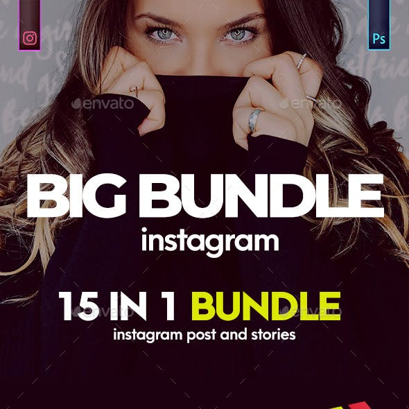 Instagram Post and Stories Banner Bundle