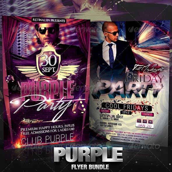 Purple Flyer Bundle
