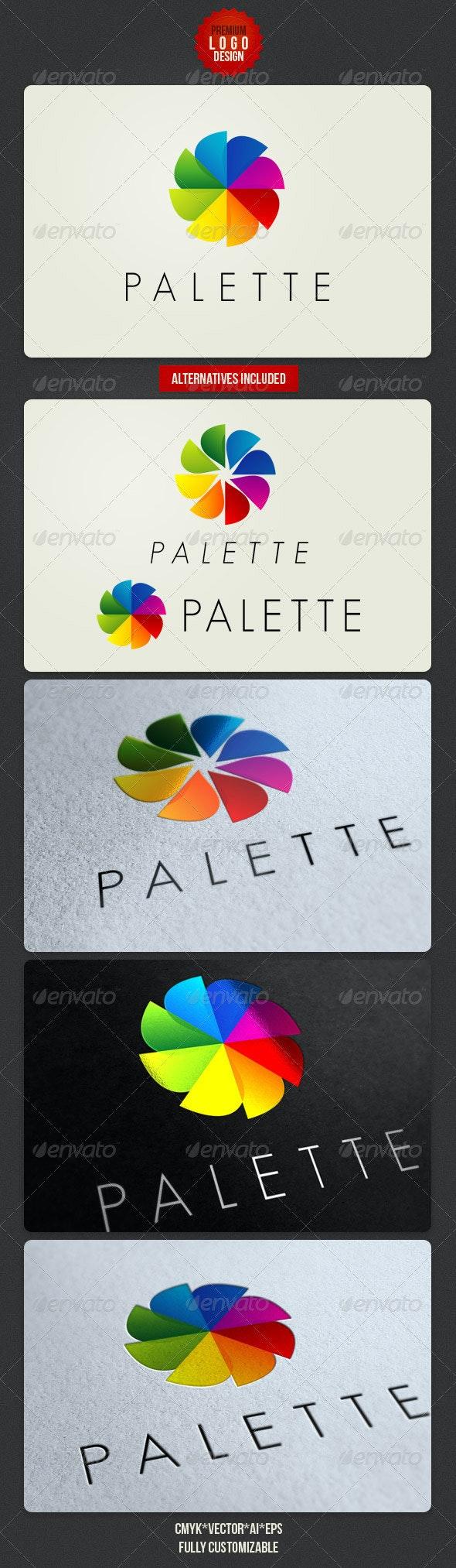 Palette Clean Logo Design - Symbols Logo Templates