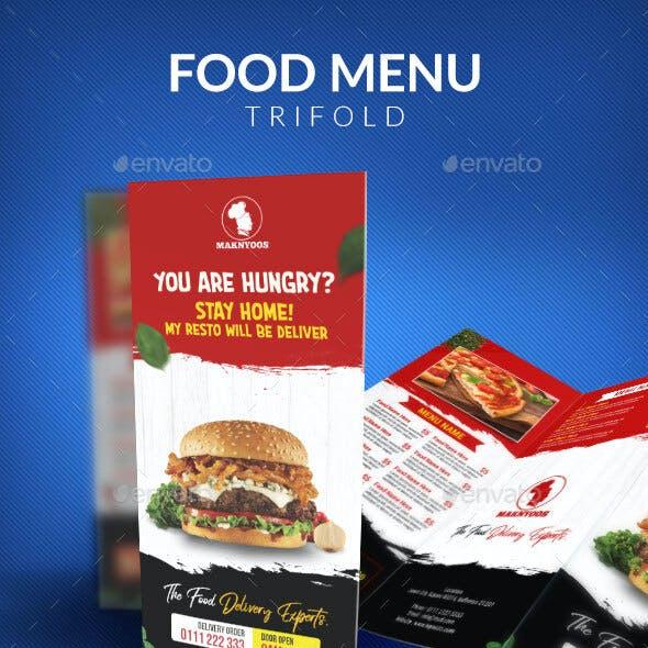 Food Menu Trifold Template