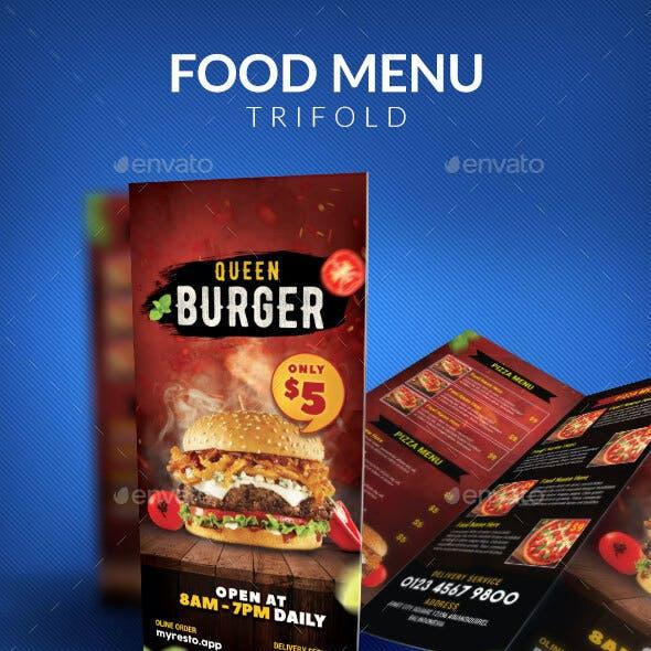 Fast Food Trifold Menu Template
