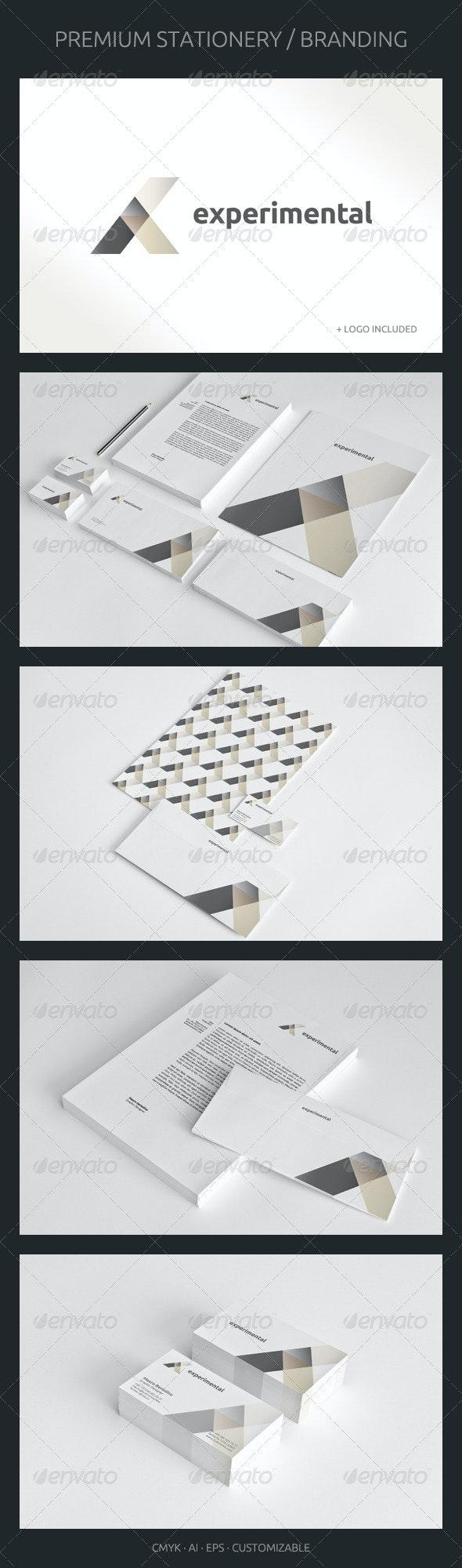 Experimental - Corporate Identity - Stationery Print Templates