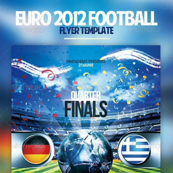 Euro 2012 Football Flyer
