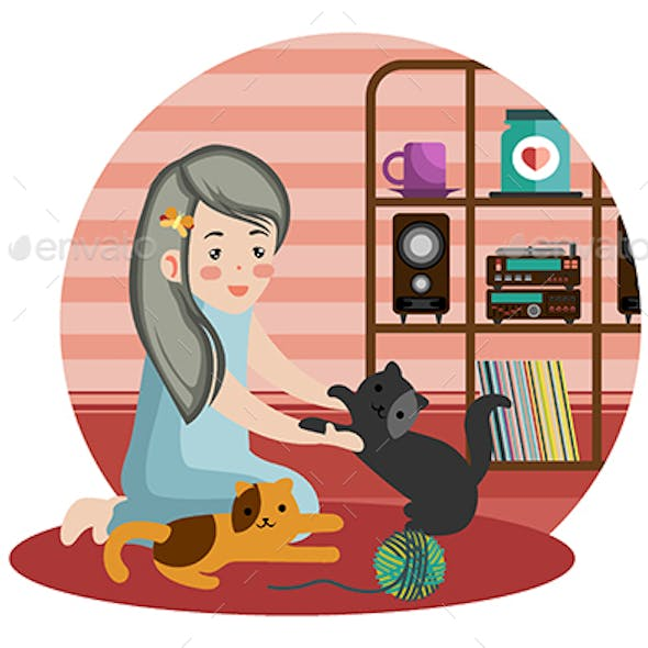 My Lovely Cats - Vector Illustration