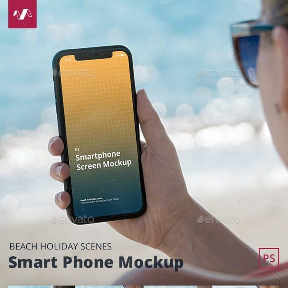 Phone Mockup Beach Holiday Scenes