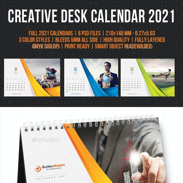 Creative Desk Calendar 2021 V11