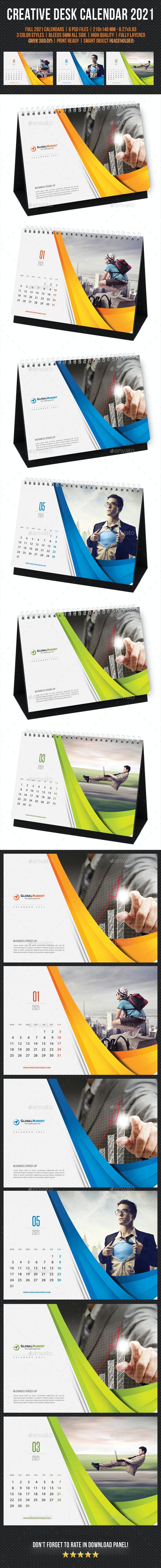 Creative Desk Calendar 2021 V11 - Calendars Stationery