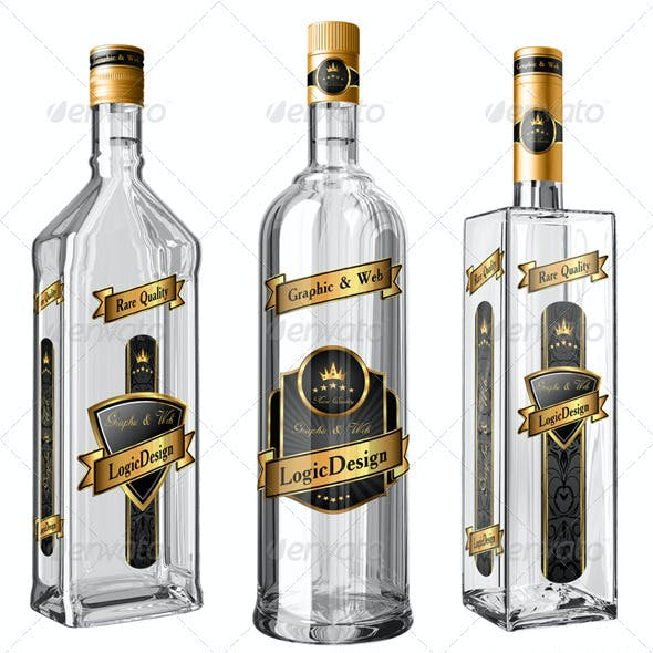 Translucent Bottles Mock Up