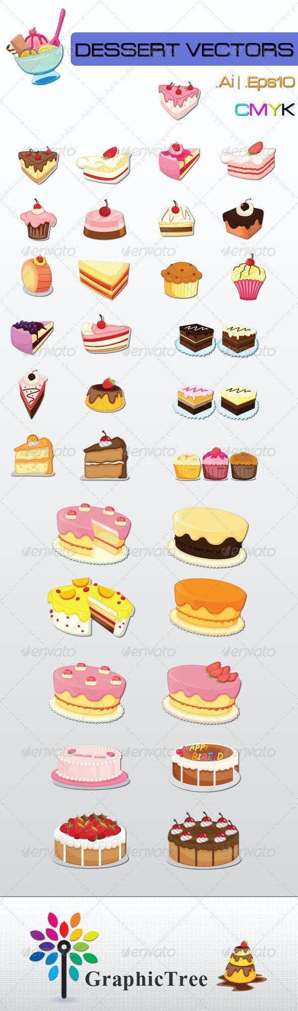 Dessert Vectors - Food Objects