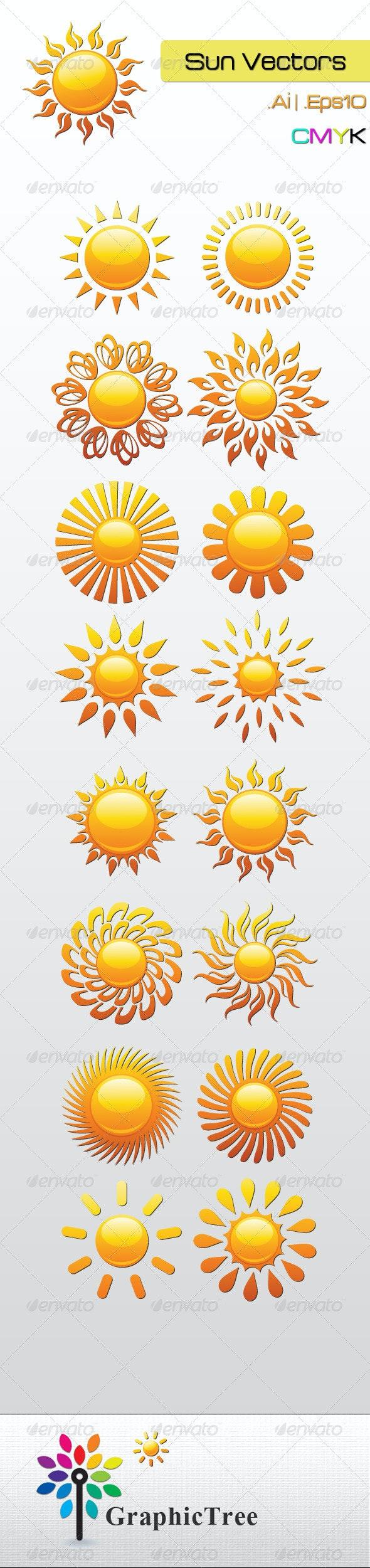 Sun Vectors - Nature Conceptual