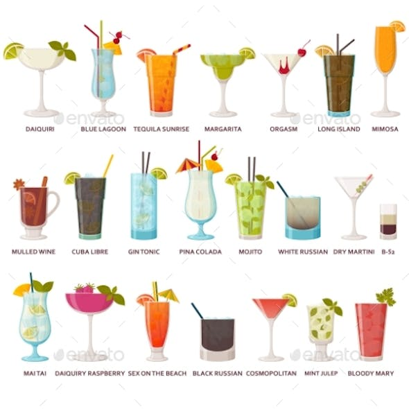 Cocktails Collection Classic and Tropical