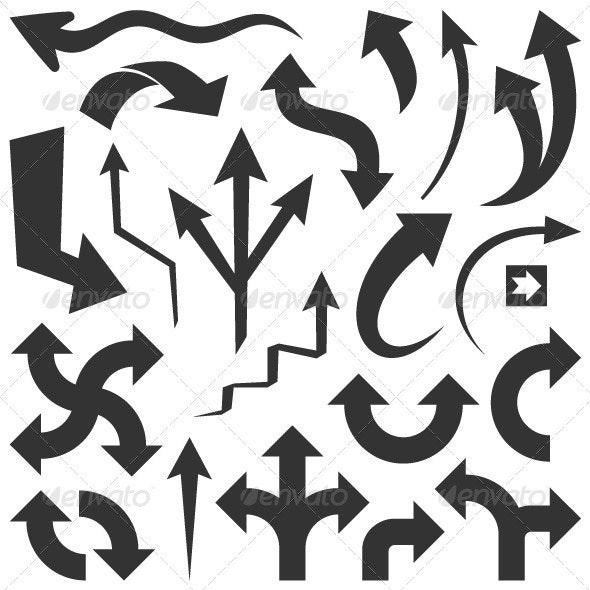 Black Arrows - Miscellaneous Vectors