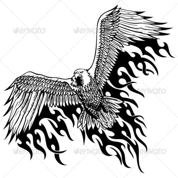 Flaming eagle - Animals Characters
