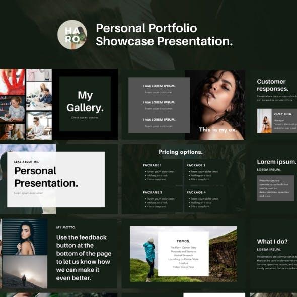 Haro — Personal Portfolio Google Slides Presentation Template