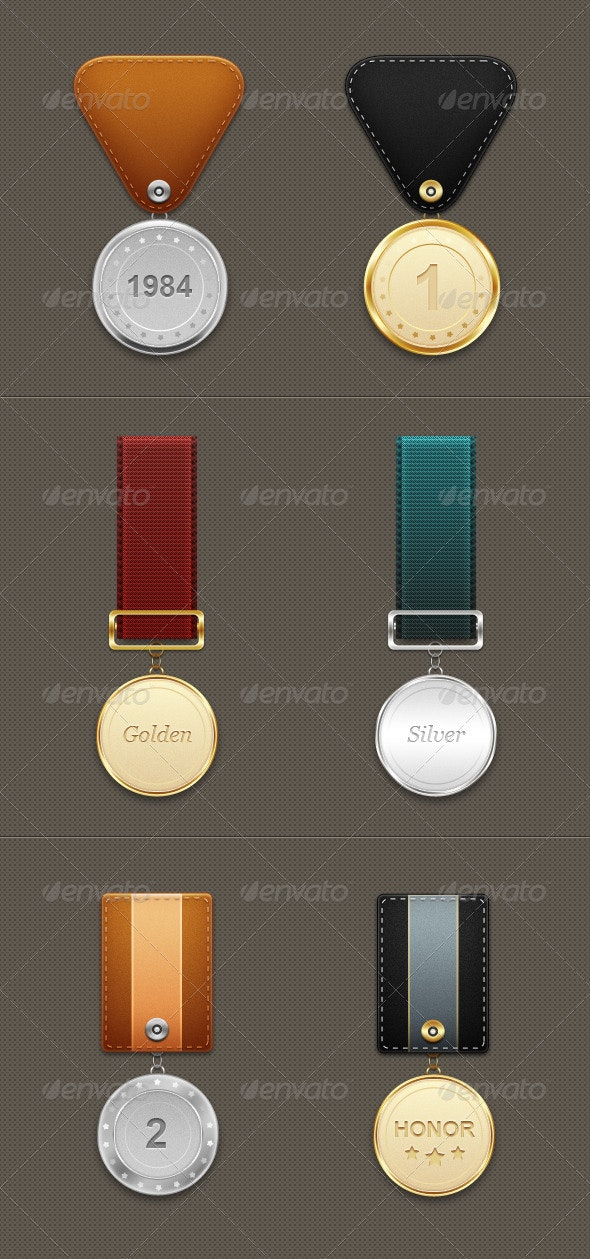Six Medals - Miscellaneous Graphics