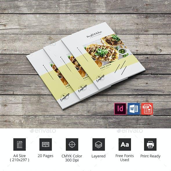 Kitchen Cookbook Brochure