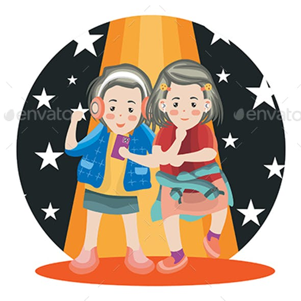 Dancing Time - Vector Illustration