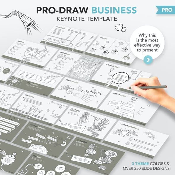 Pro-Draw Business Keynote Template