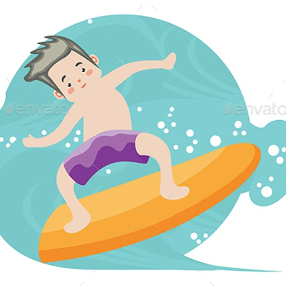 Surfers - Vector Illustration