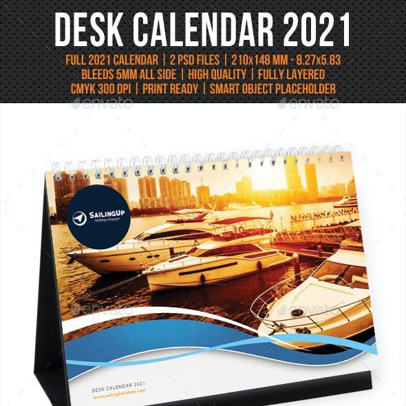 Creative Desk Calendar 2021 V08