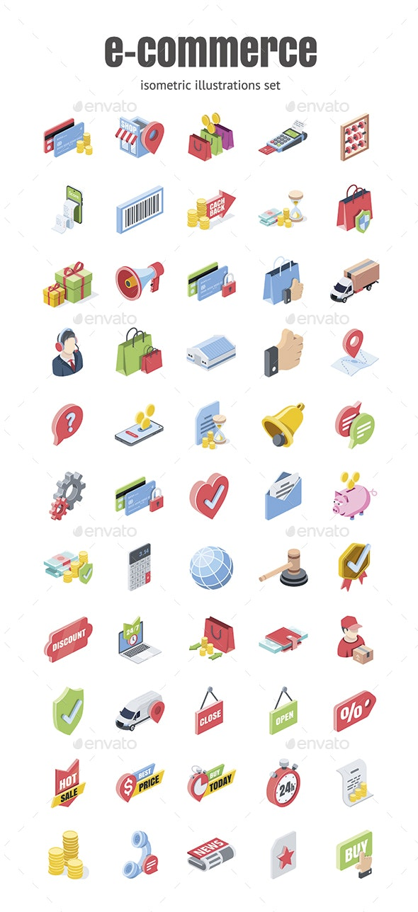 E-commerce - Business Icons