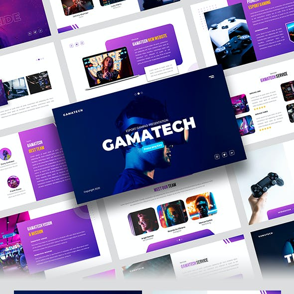 Gamatech – Esport Gaming Google Slides Template