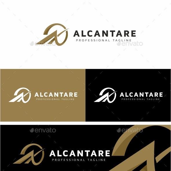 Alcantare A Letter Logo Template