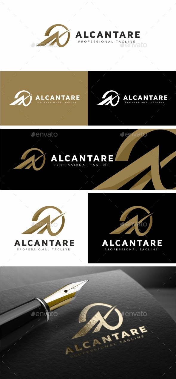Alcantare A Letter Logo Template - Letters Logo Templates