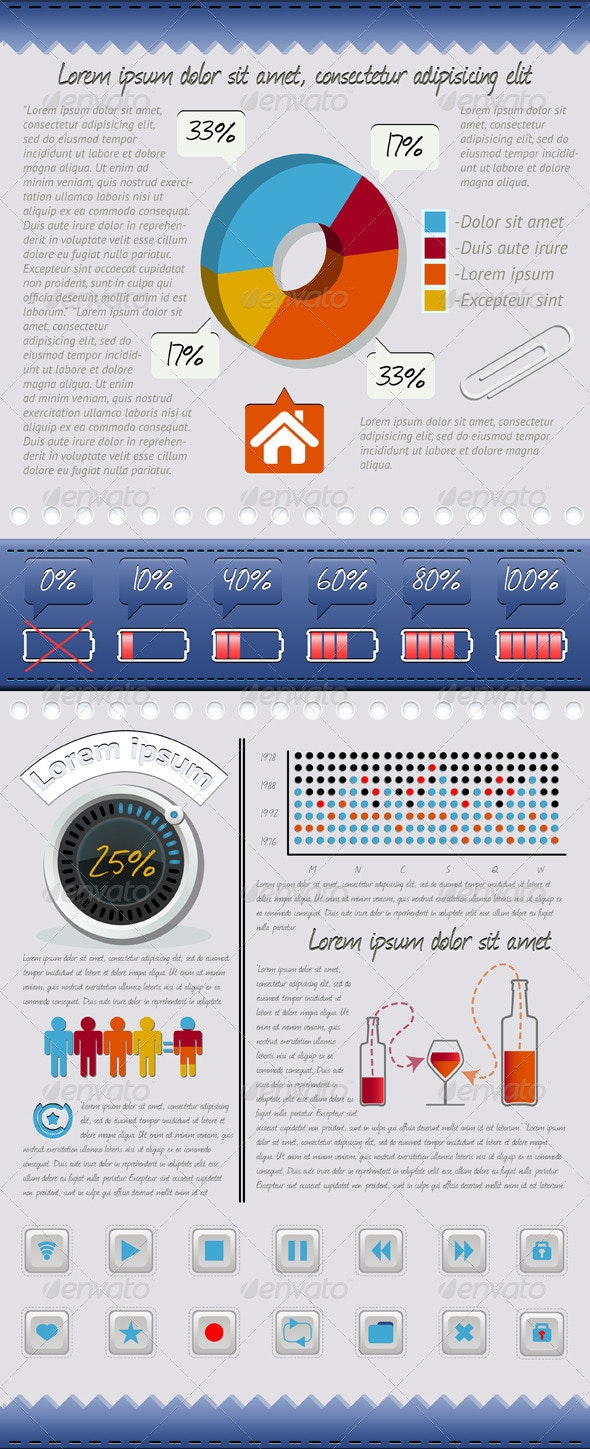 Set of Vector Elements Infographics and Icons - Infographics
